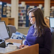 Librarian Assists Patron via Chat Service