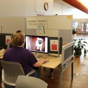 Photo of Student at Editing Station